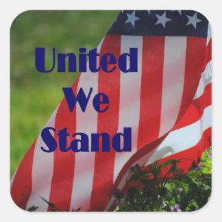 United We Stand Flag Sticker