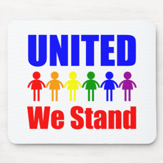 United We Stand Gay and Lesbian Mouse Pads