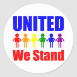 United We Stand Gay and Lesbian Stickers