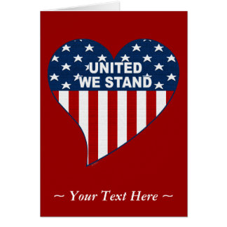 United We Stand Greeting Card