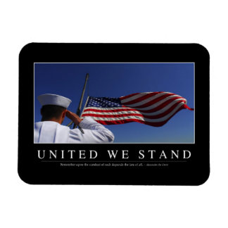 United We Stand: Inspirational Quote Magnet