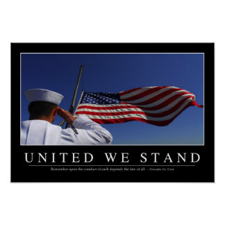 United We Stand: Inspirational Quote Poster