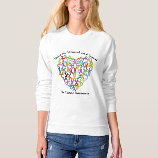 United We Stand Love Support For Cancer Awareness Sweatshirt