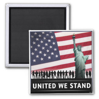 United We Stand 2 Inch Square Magnet