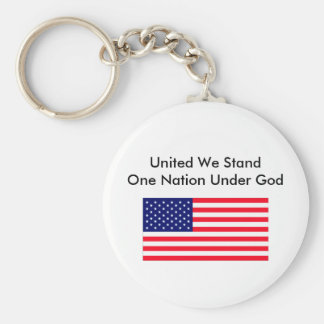 United We Stand One Nation Under God Keychain