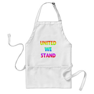 United We Stand Rainbow Aprons