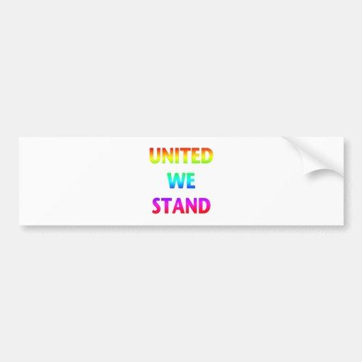 United We Stand Rainbow Bumper Sticker