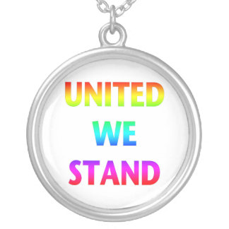 United We Stand Rainbow Silver Plated Necklace