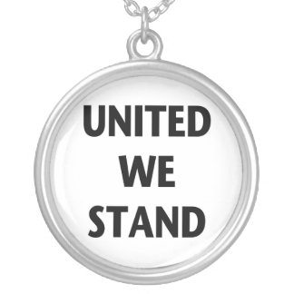 United We Stand Round Pendant Necklace