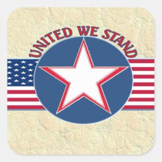 UNITED WE STAND SQUARE STICKER
