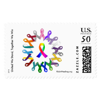 United We Stand, Together We Win - Awareness Stamp