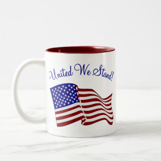 United We Stand Two-Tone Coffee Mug
