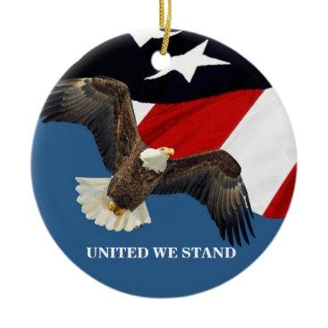 United We Stand/USA Ceramic Ornament