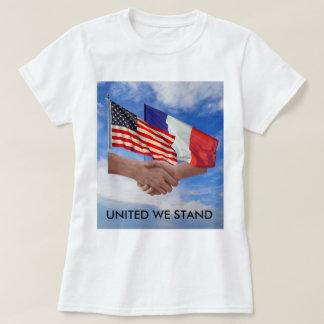 United We Stand USA & France Women's Basic T-Shirt