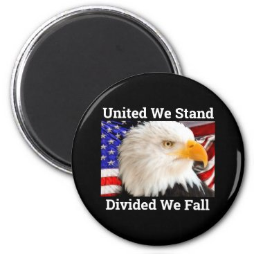 United We Stand with American Flag Magnet