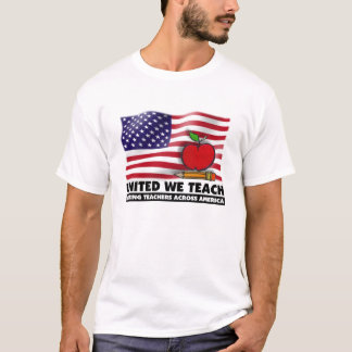 UNITED WE TEACH™  Mens Basic American Apparel T-Shirt