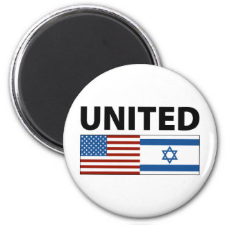United with Israel 2 Inch Round Magnet