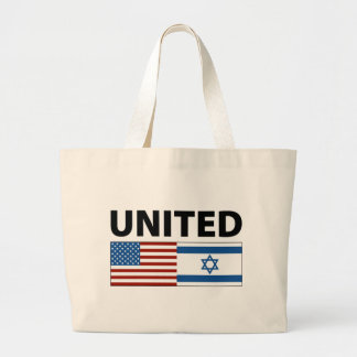 United with Israel Jumbo Tote Bag
