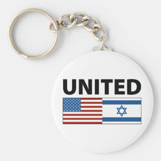 United with Israel Key Chains