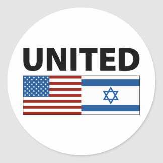 United with Israel Stickers