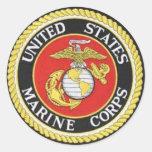 UNITES STATES MARINE CORPS CLASSIC ROUND STICKER