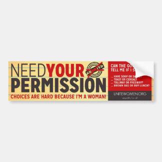 UniteWomen org Bumper Sticker