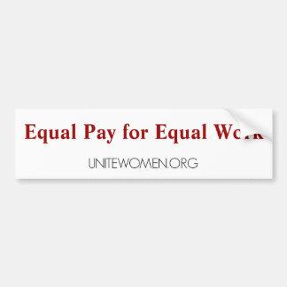 UniteWomen.org Bumper Sticker Car Bumper Sticker