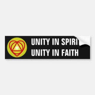 unitheist logo sunburst bumper sticker