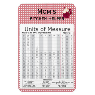 Units of Measure Apple Design Premium Flexi Magnet