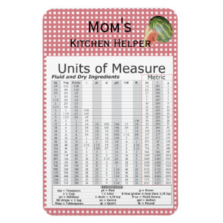 Units of Measure Watermelon Design Rectangular Photo Magnet