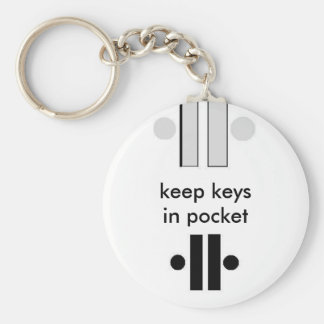 Unity2, Unity4, keep keys in pocket Basic Round Button Keychain