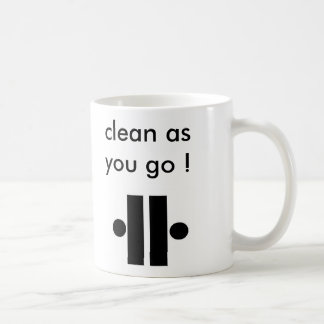 Unity2, Unity5, clean as you go !, wash cup aft...