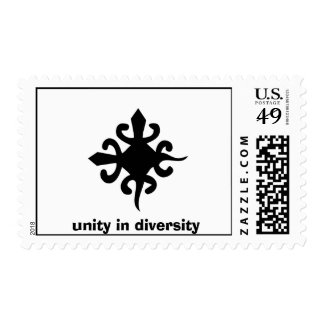Unity and Diversity Symbol, unity in diversity Postage