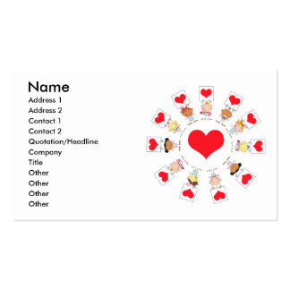 unity and love cartoon kids business card