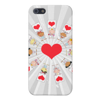 unity and love cartoon kids case for iPhone SE/5/5s
