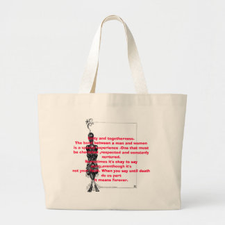 Unity and togetherness.The bond between a man a... Canvas Bags