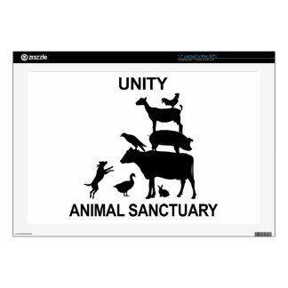 "Unity Animal Sanctuary Merchandise Decal For 17"" Laptop"