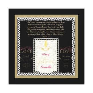 Unity Candle Bride/Groom Wedding Canvas Print