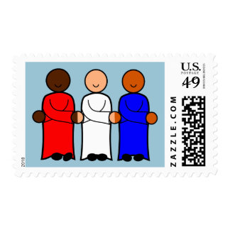 Unity Image Red White and Blue Postage Stamp