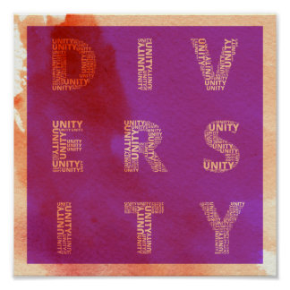Unity in Diversity watercolor poster