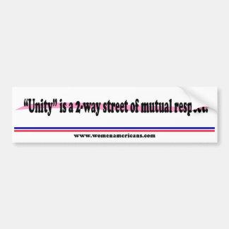 Unity is a 2-way street bumper sticker