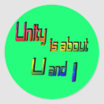 Unity Is About U and I Stickers