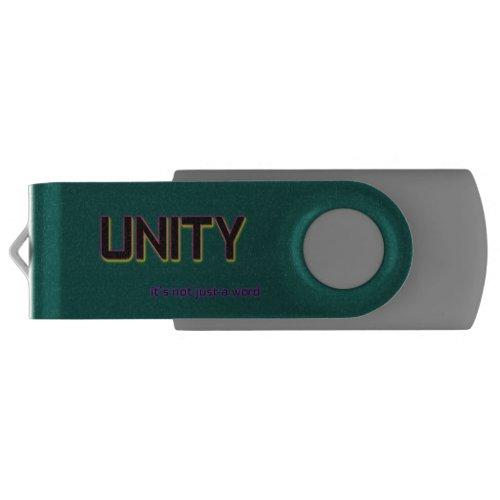 Unity It's Not Just a Word Add Your Logo Custom USB Flash Drive