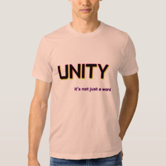 Unity It's Not Just a Word Template Logoed Custom T Shirt