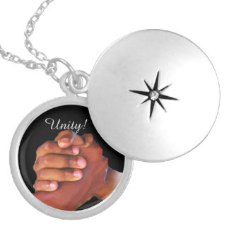 Unity & Love,Hand In Hand_ Locket Necklace