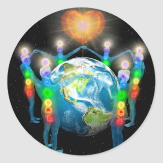 Unity of the Light Classic Round Sticker