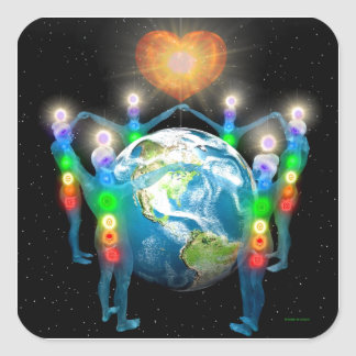 Unity of the Light Square Sticker