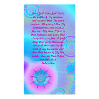 Unity Prayer Double-Sided Standard Business Cards (Pack Of 100)