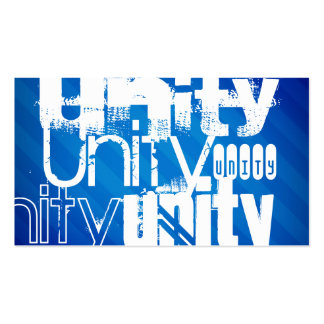 Unity; Royal Blue Stripes Double-Sided Standard Business Cards (Pack Of 100)