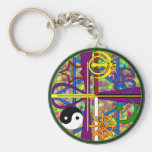 Unity Spiritual Symbols Keychains